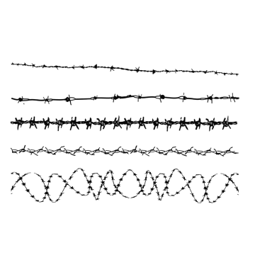 Barbed wire border png. Images vectors and psd