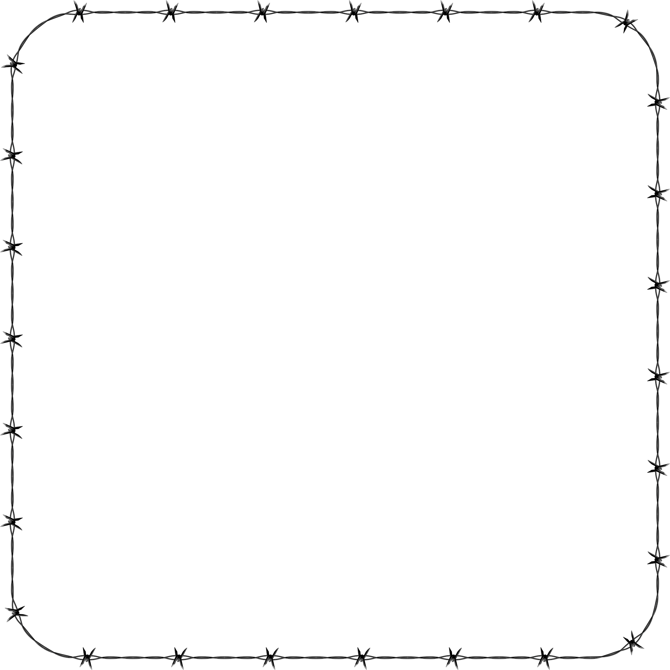 Rounded square frame icons. Barbed wire border png clip art freeuse