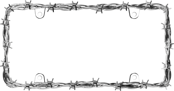 Barbed wire clipart border wall. Cruiser accessories ii license