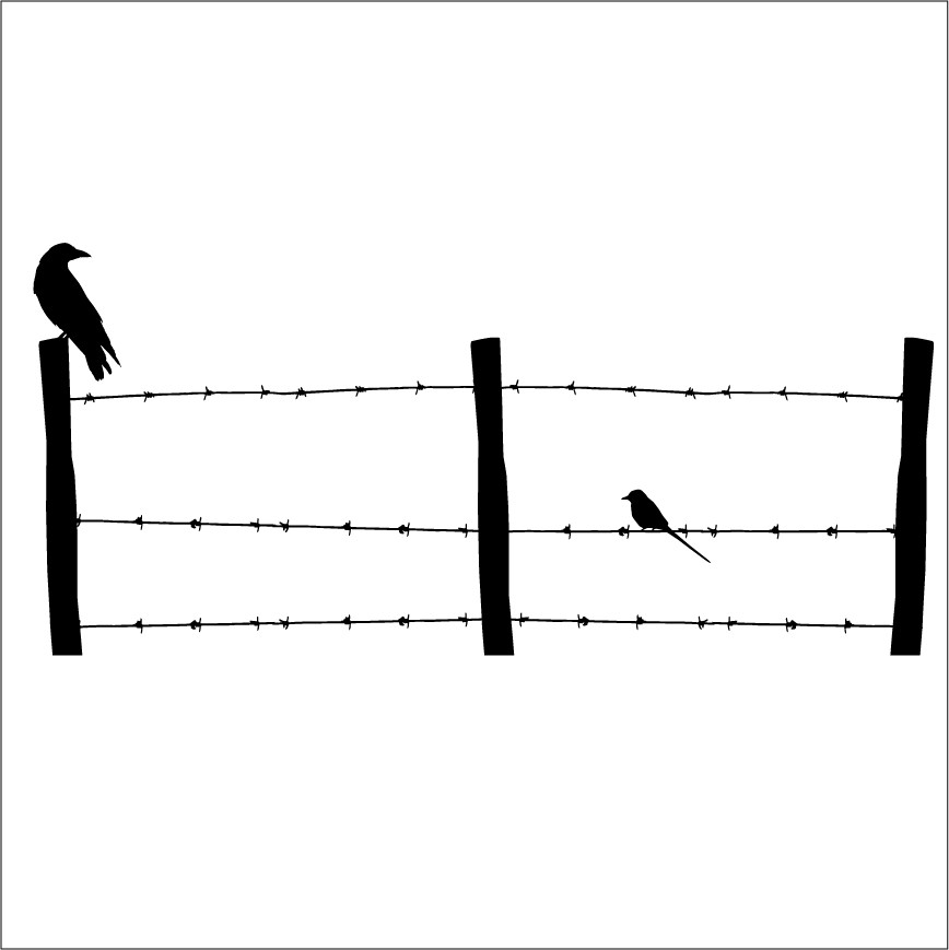 Barbed wire clipart easy. Fence