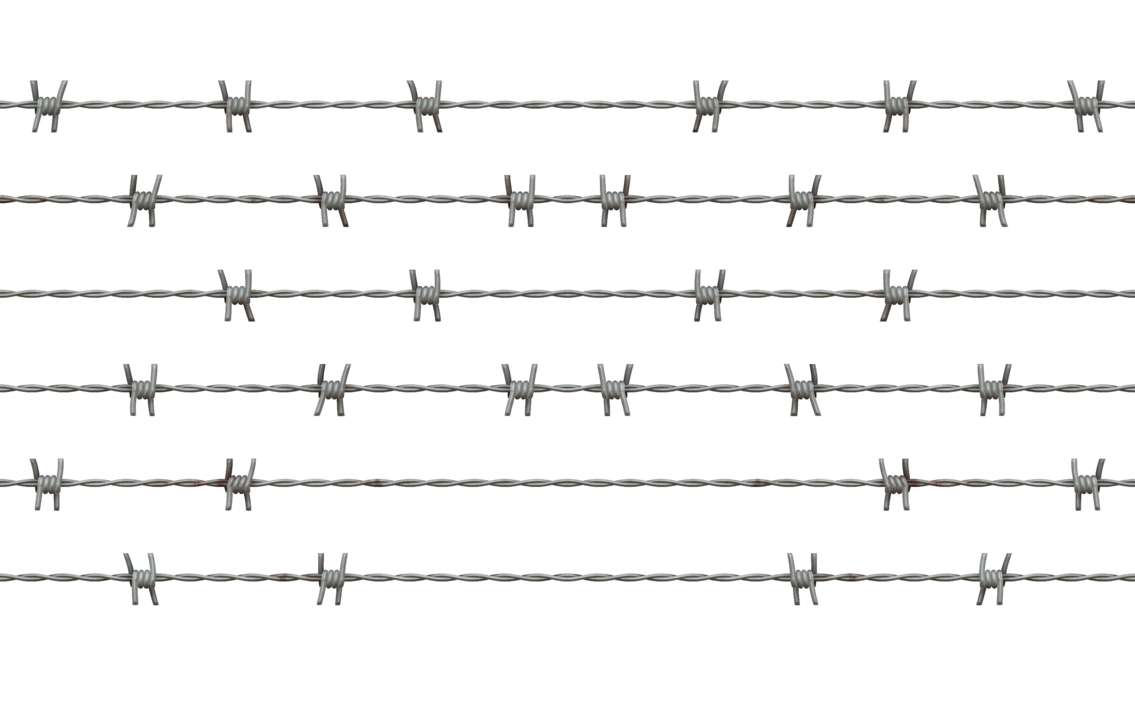 Barbed wire fence png. Stock cc by annamae