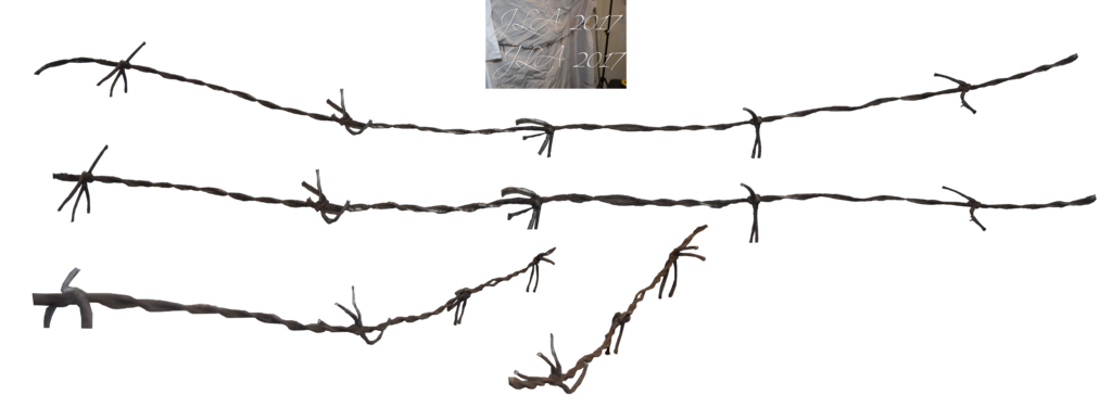 Barbed wire fence png. Faux stock by mom
