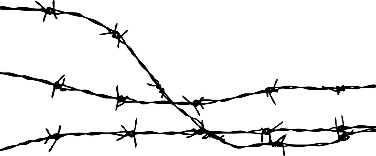 Barbed wire fence png. Transparent interesting barb clipart