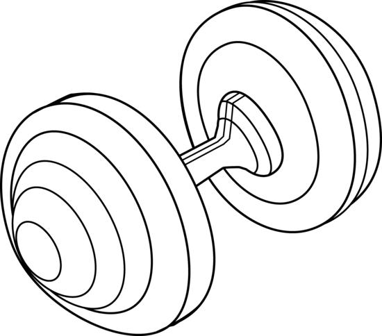 Barbell clipart hand weight. Line art free clip