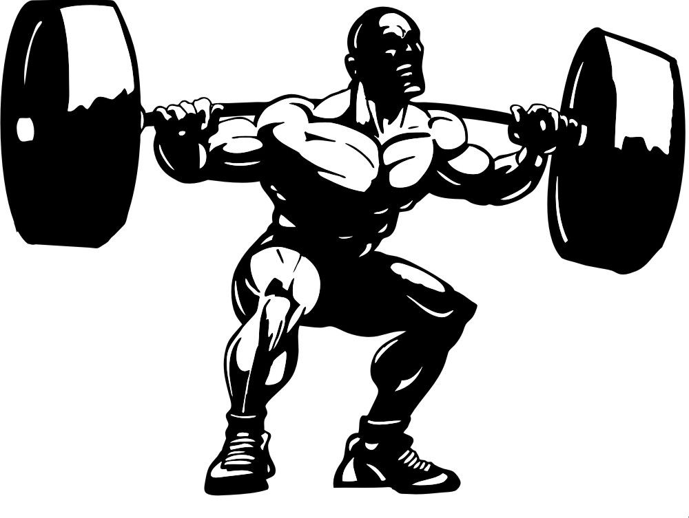 Weights clipart strenght. Weight lifting squat jpg