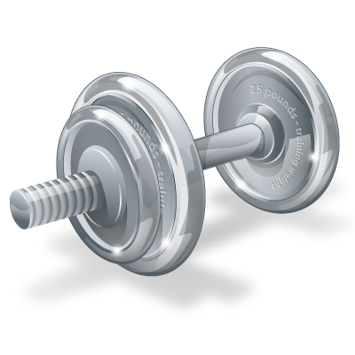 Barbell transparent dumbbell. Weights fitness physical dumbell