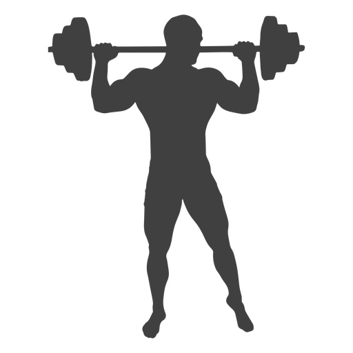 Barbell transparent silhouette. Man lifting png svg