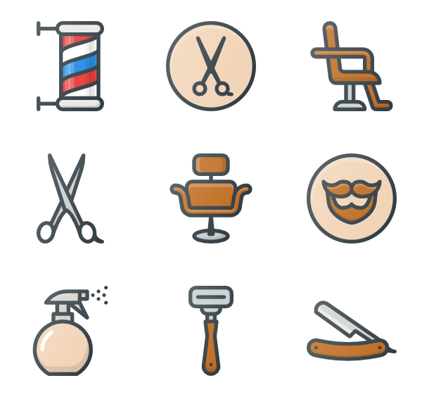 Barber clip psd. Icon packs vector