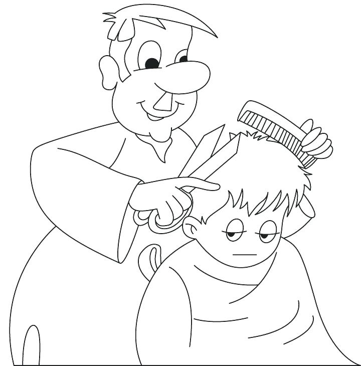 Barber clipart community helper. Helpers coloring pages for