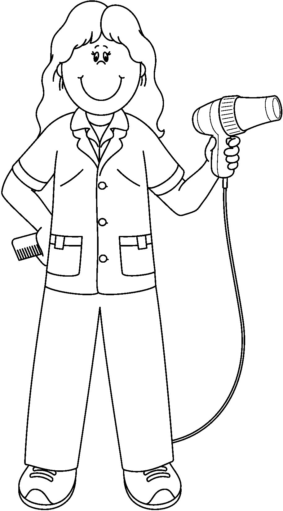 Barber clipart community helper. Coloring pages jennymorgan me
