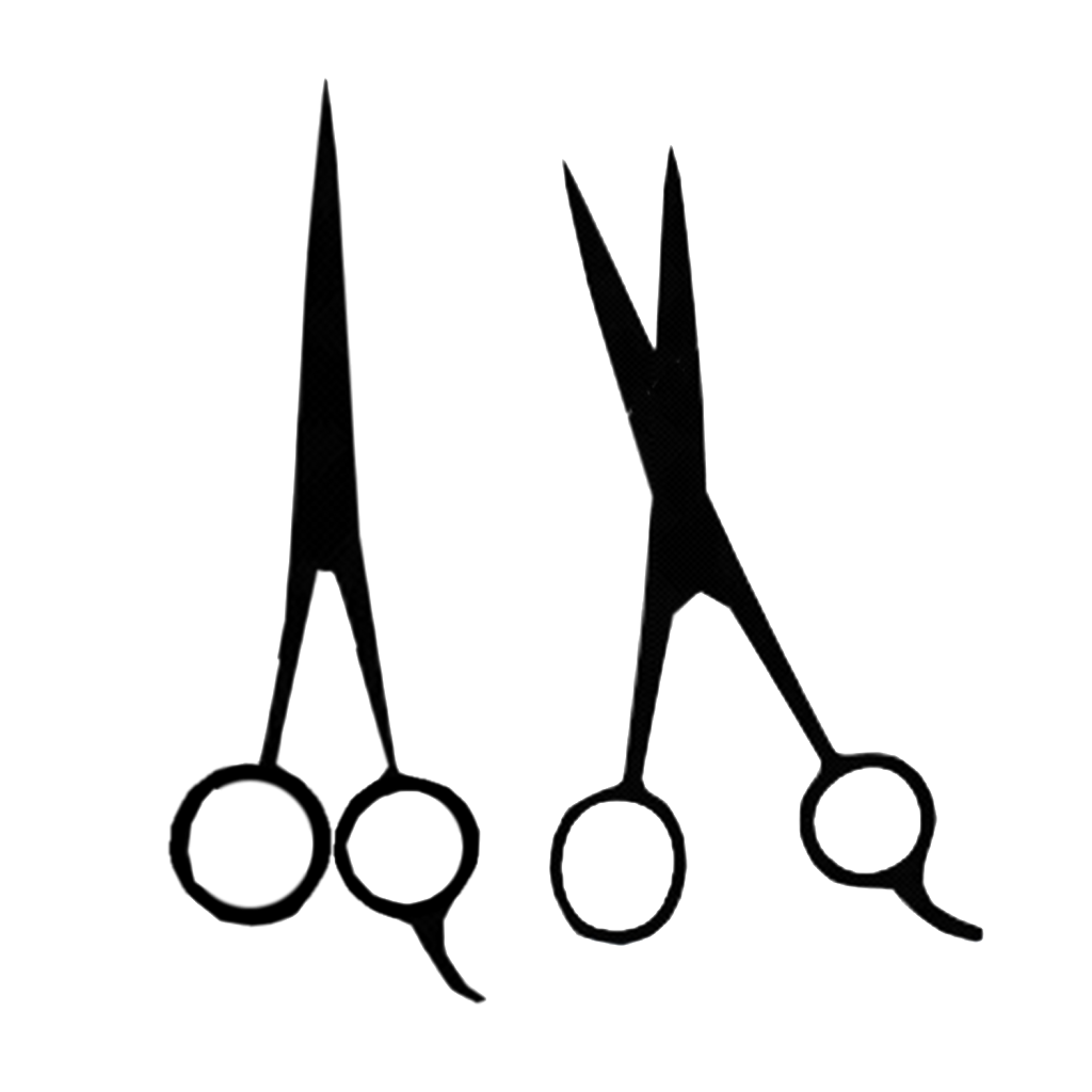 Shears drawing scisors. The wacky barber co