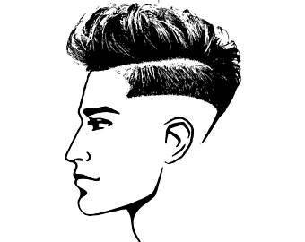 Barber clipart mens parlour hair style. Shop drawing etsy haircut