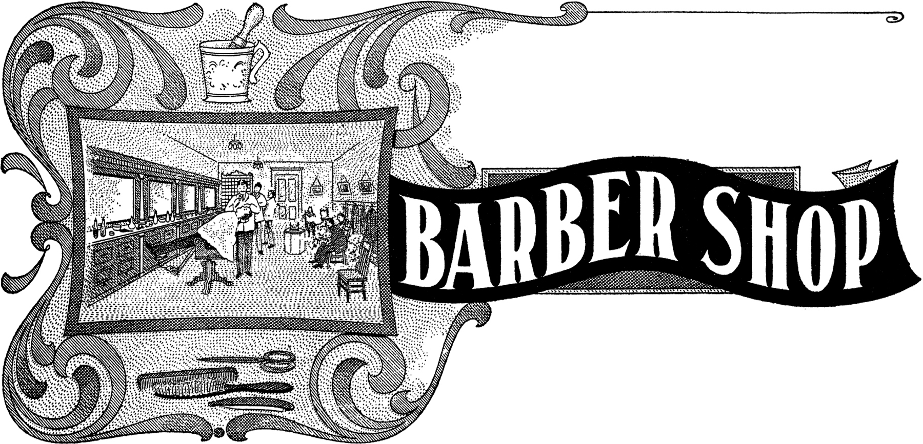 barber clipart vintage barber