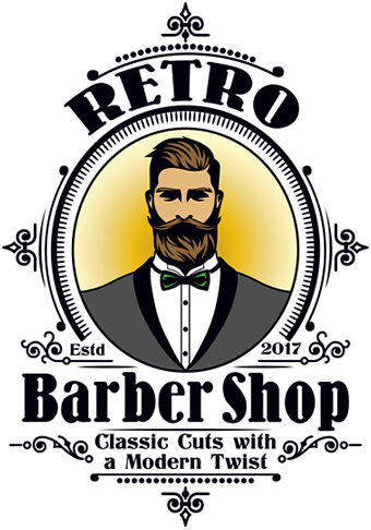 Barbershop vector haircut. Retro round rock tx