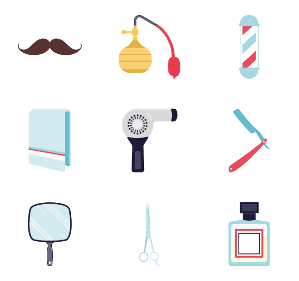 Barbershop vector icon. Icons free elements