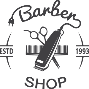 Tommy barber logo cdr. Shop vector clipart free stock