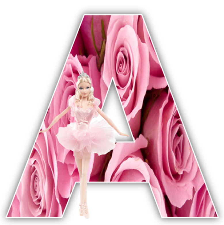Barbie alphabet png