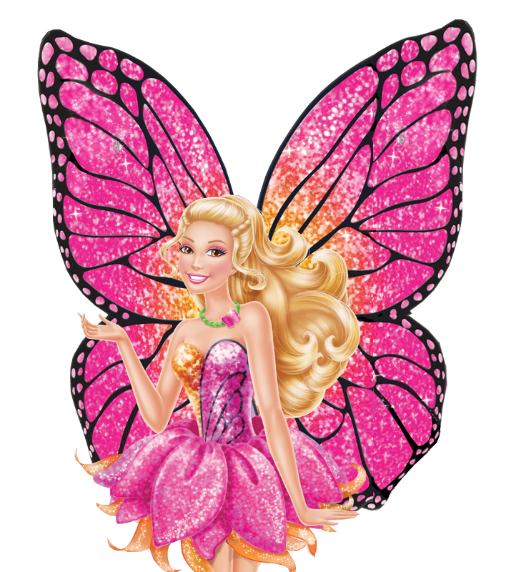 Barbie clip butterfly. Banner free library