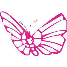 Barbie clip butterfly. Pink icon free icons