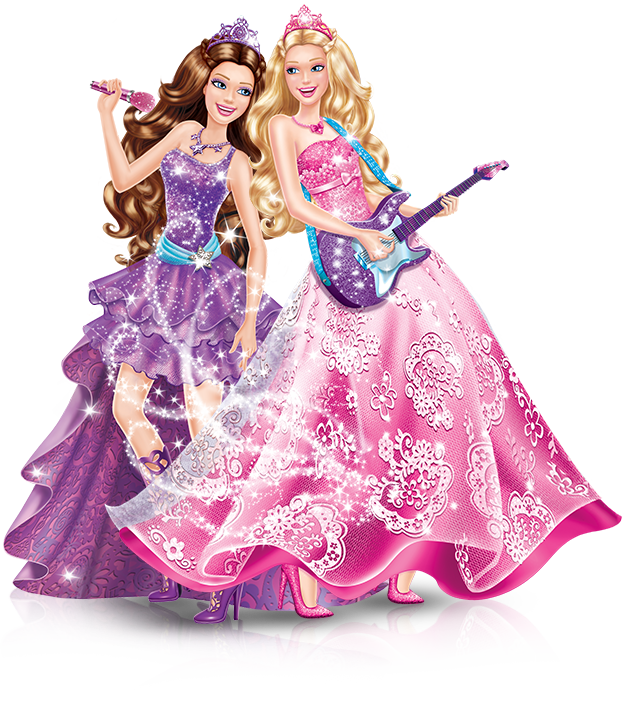 Barbie clip toy. Greeting note cards art