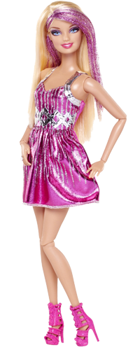 Barbie clip dress. Download doll free png