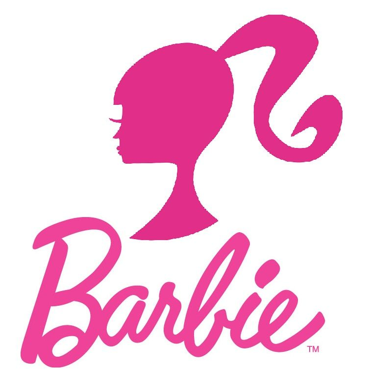 Barbie clipart pink. The logo has actually