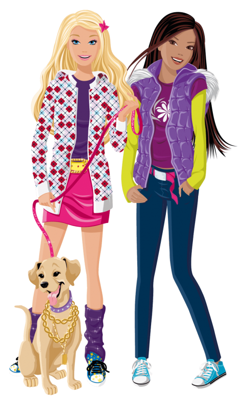 Barbie clipart transparent. And friend free png