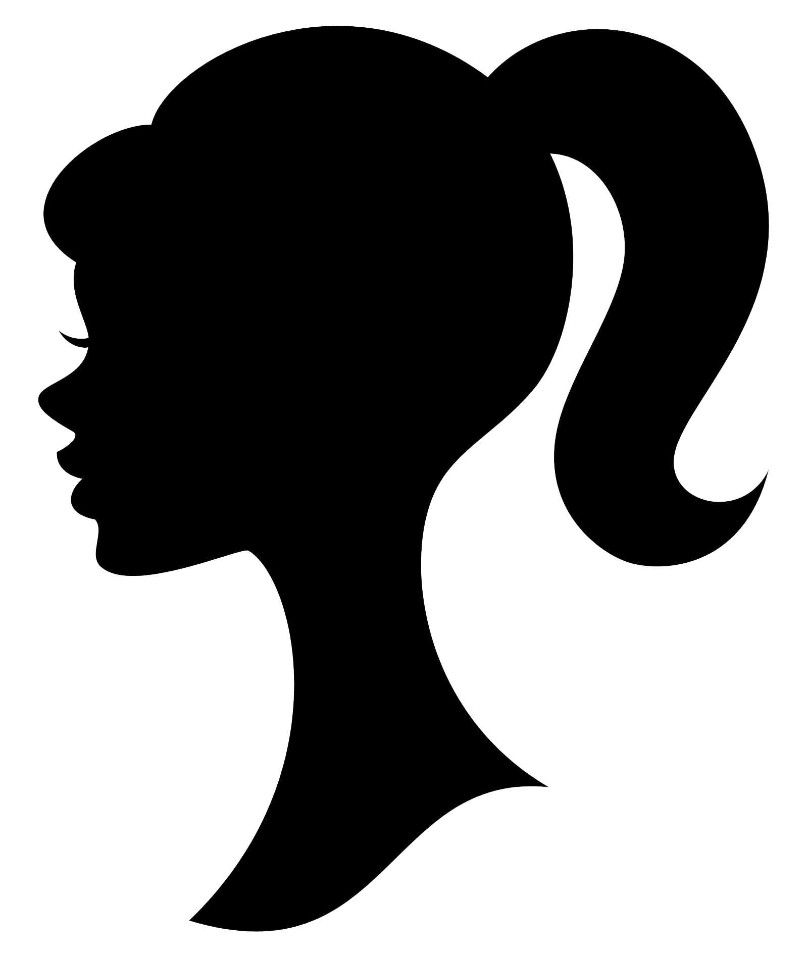 Barbie silhouette png. Image of clipart cartoon