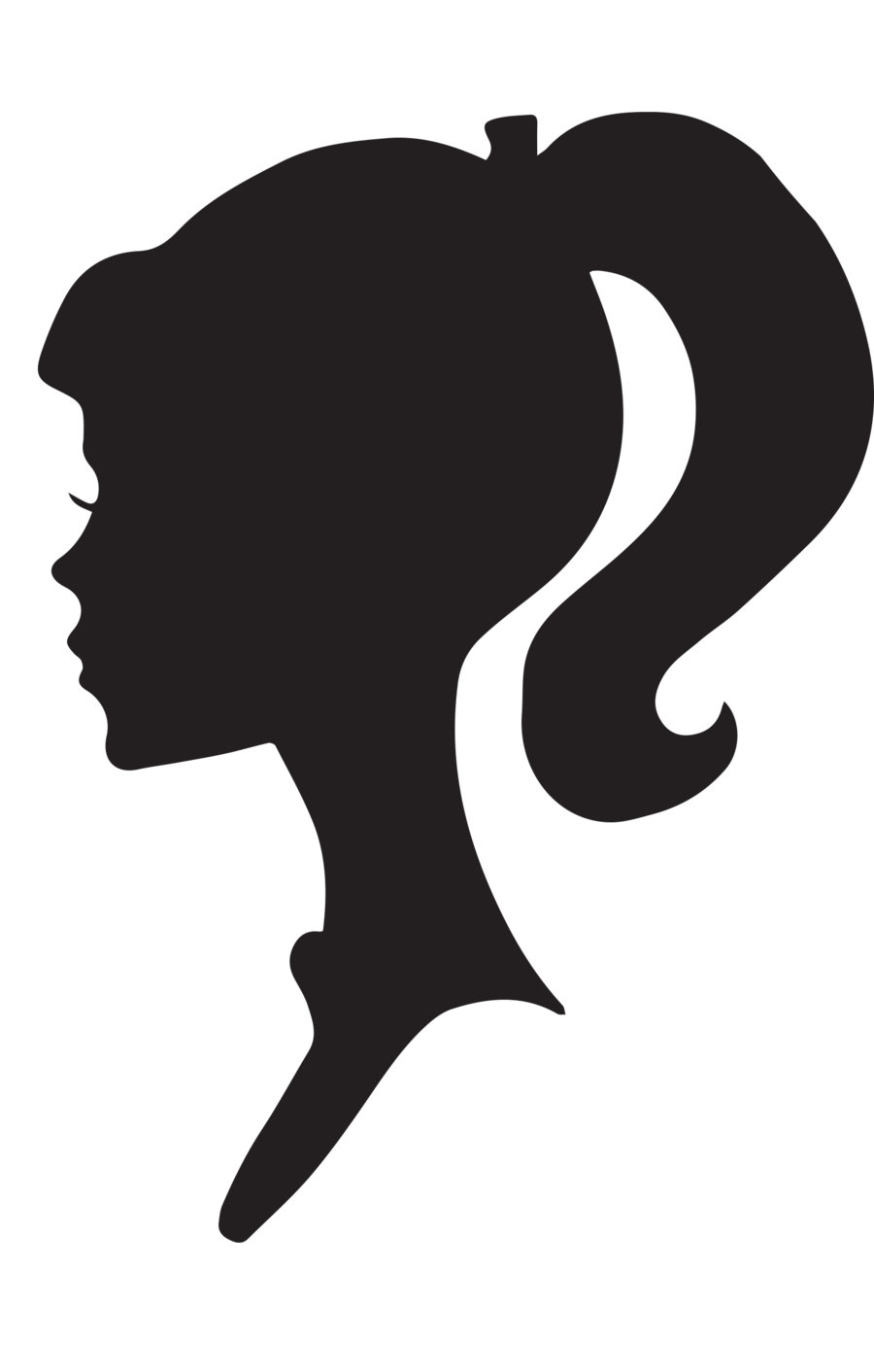 Barbie silhouette png. Head at getdrawings com