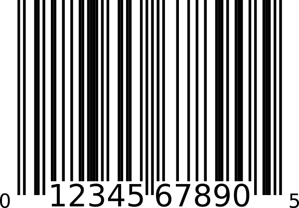 barcode svg blank background