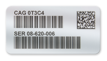 Barcode sticker png. Metalized polyester label labelsnow