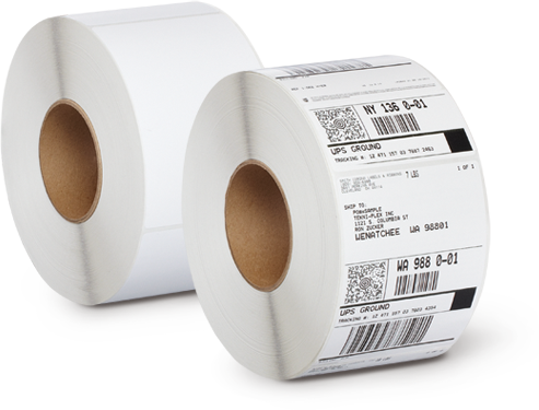 Barcode labels png. Thermal at rs roll