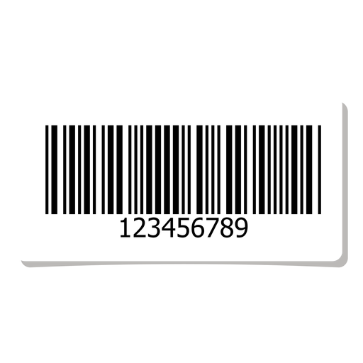 Barcode sticker png. Label design element transparent
