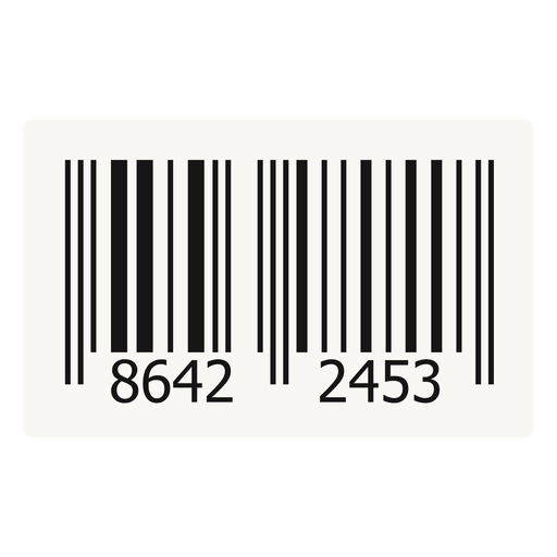 Barcode sticker png. Label design transparent svg