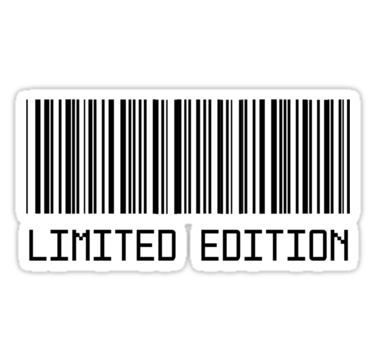 Barcode sticker png. Limited edition t shirt