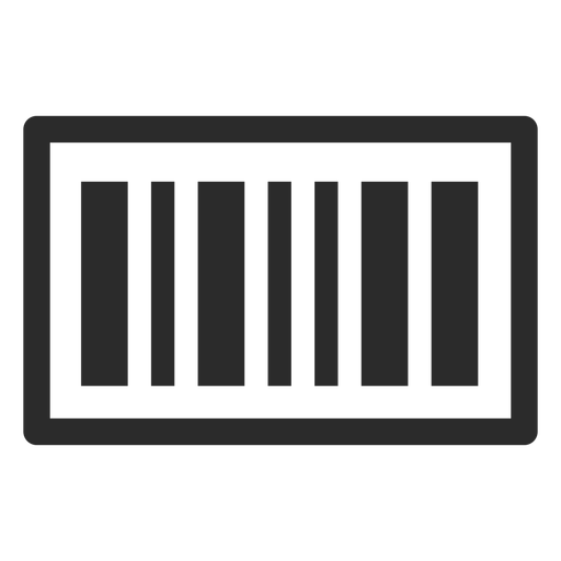 Barcode svg transparent background. Stroke icon png vector