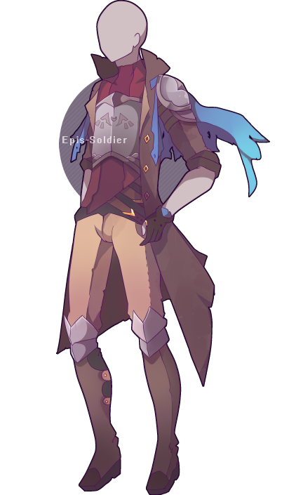 Bard drawing clothing. A custom outfit commission