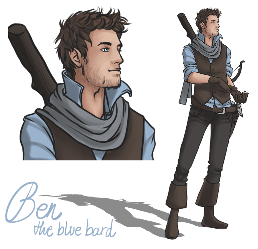 Bard drawing fantasy. Ben the blue by