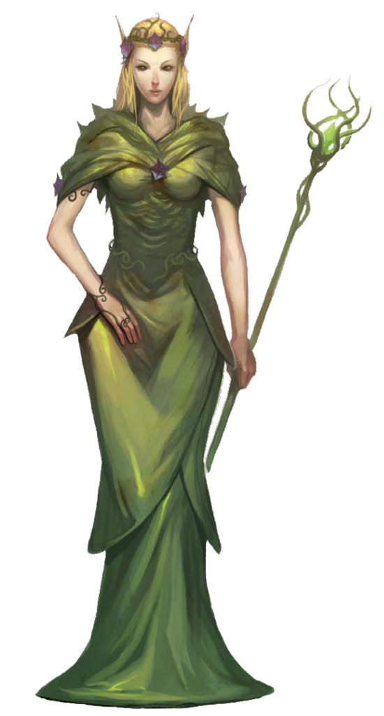 Androgynous drawing elf. F high druid robes