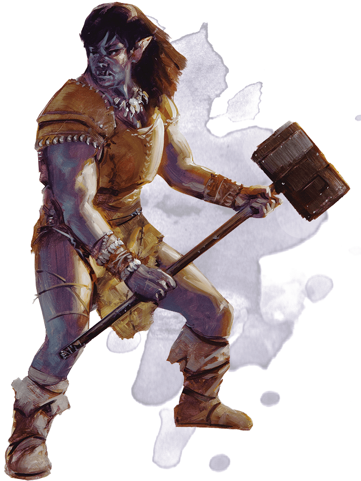 Adventurer drawing orc. Basic rules for dungeons
