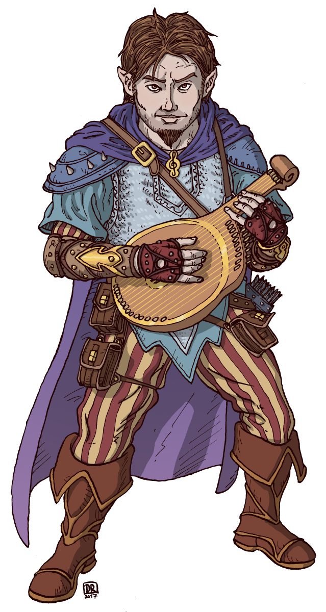 Bard drawing lute player. Halfling by domigorgon deviantart