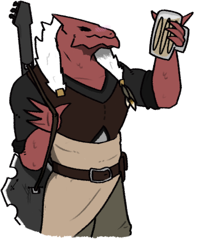 Bard drawing metal. Dungeons and dragons clipart