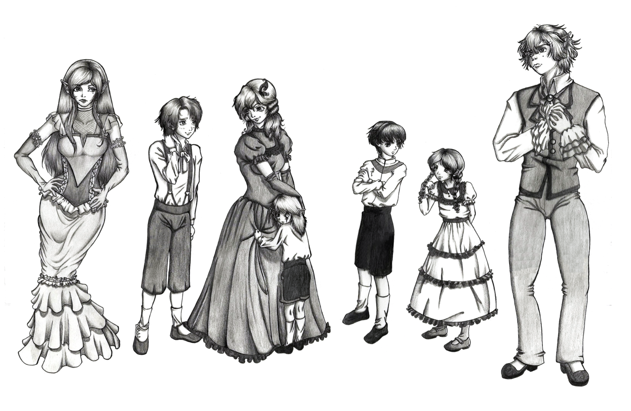Ruins drawing victorian. Commission characters by rumpelstilzchenriel