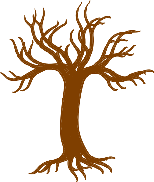 Bare clipart cartoon. Free brown tree cliparts