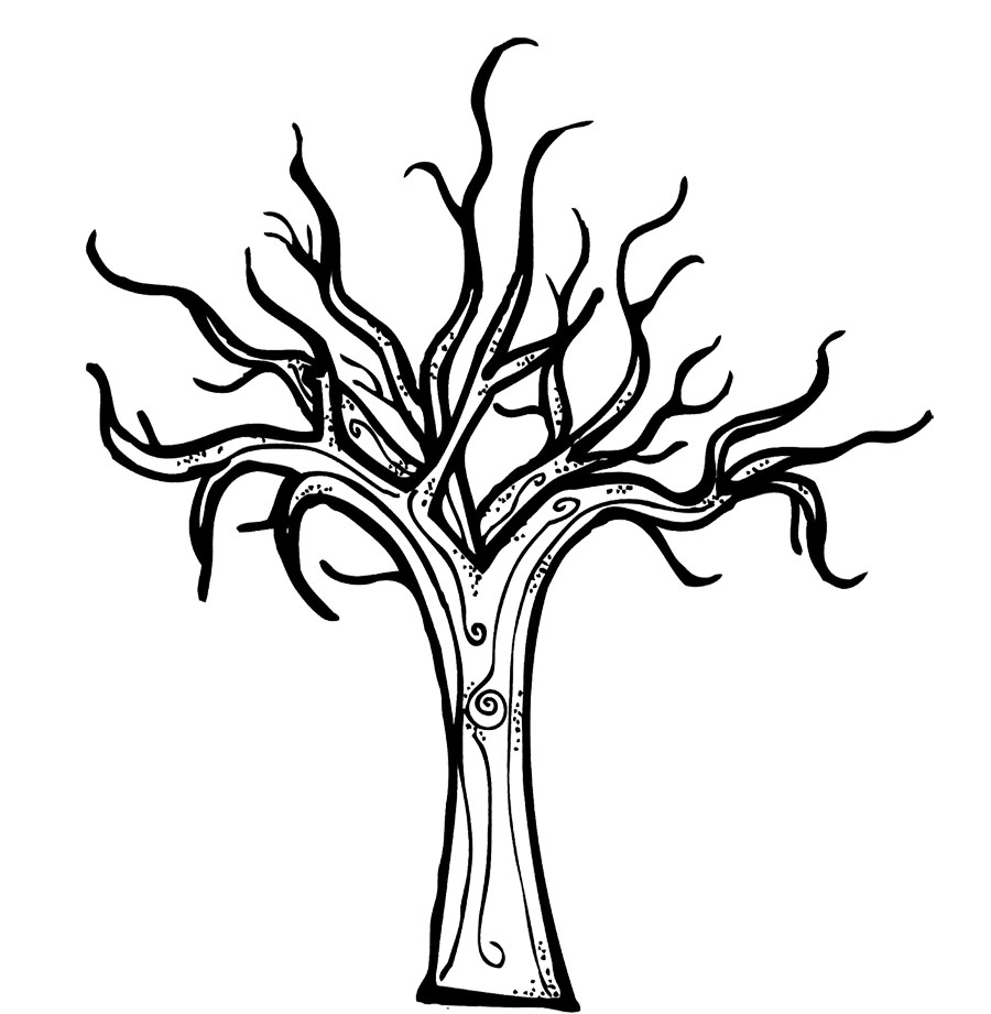 Bare clipart spooky tree. Drawing at getdrawings com