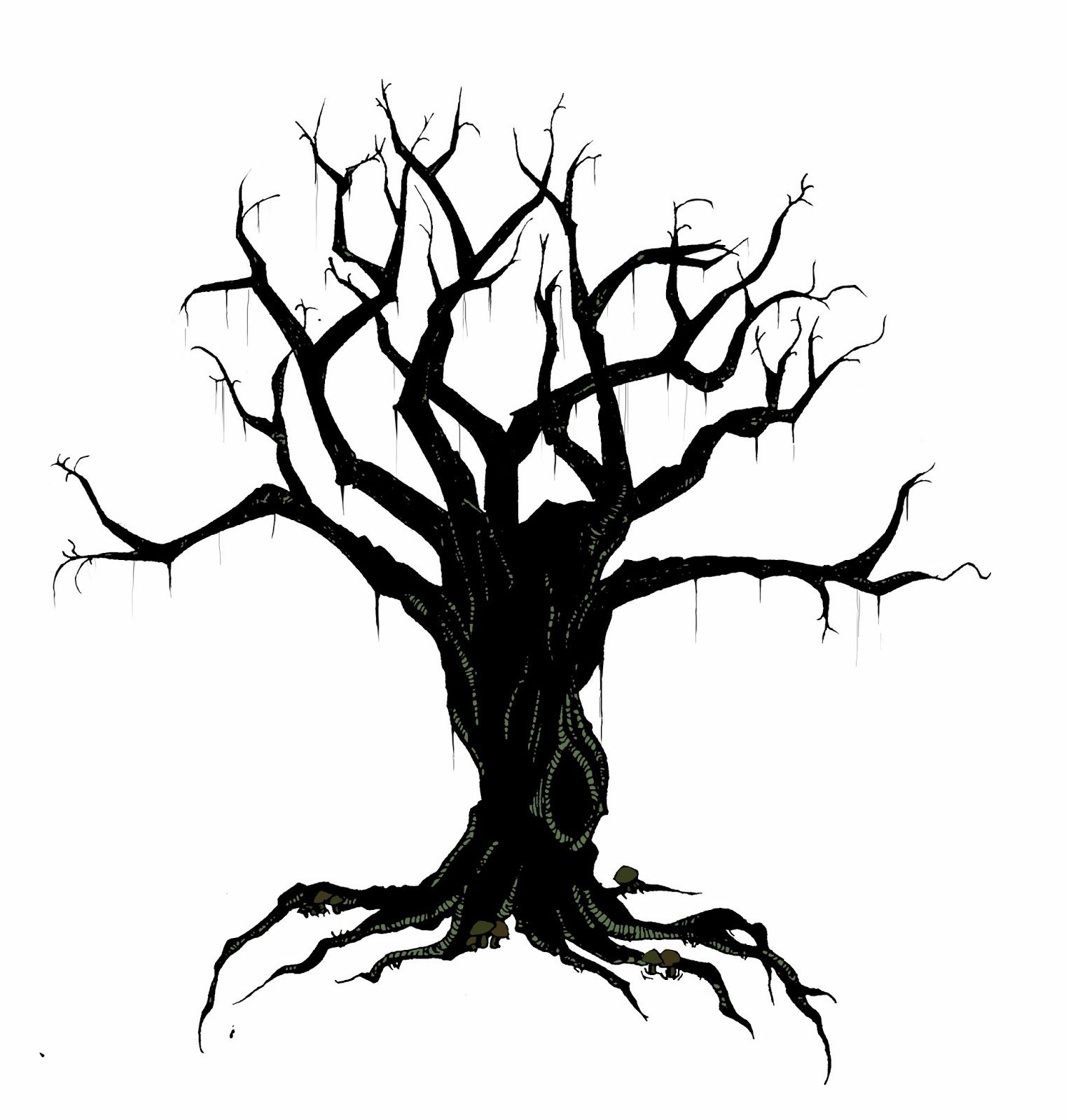 Bare clipart spooky tree. Silhouette at getdrawings com