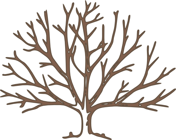 bare clipart tree silhouette