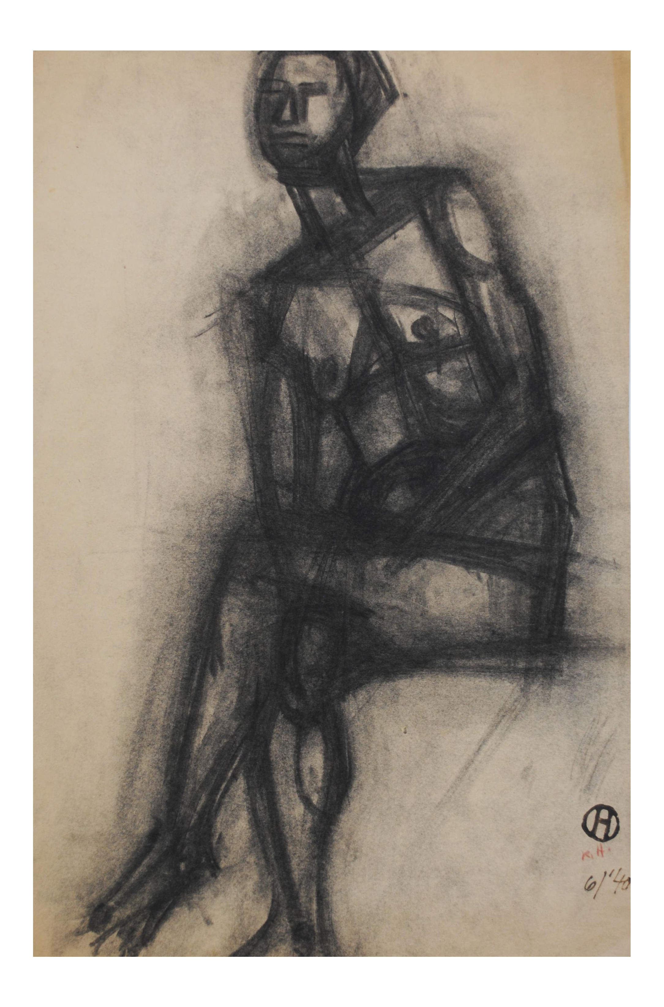 Studying drawing charcoal. By richard hackett