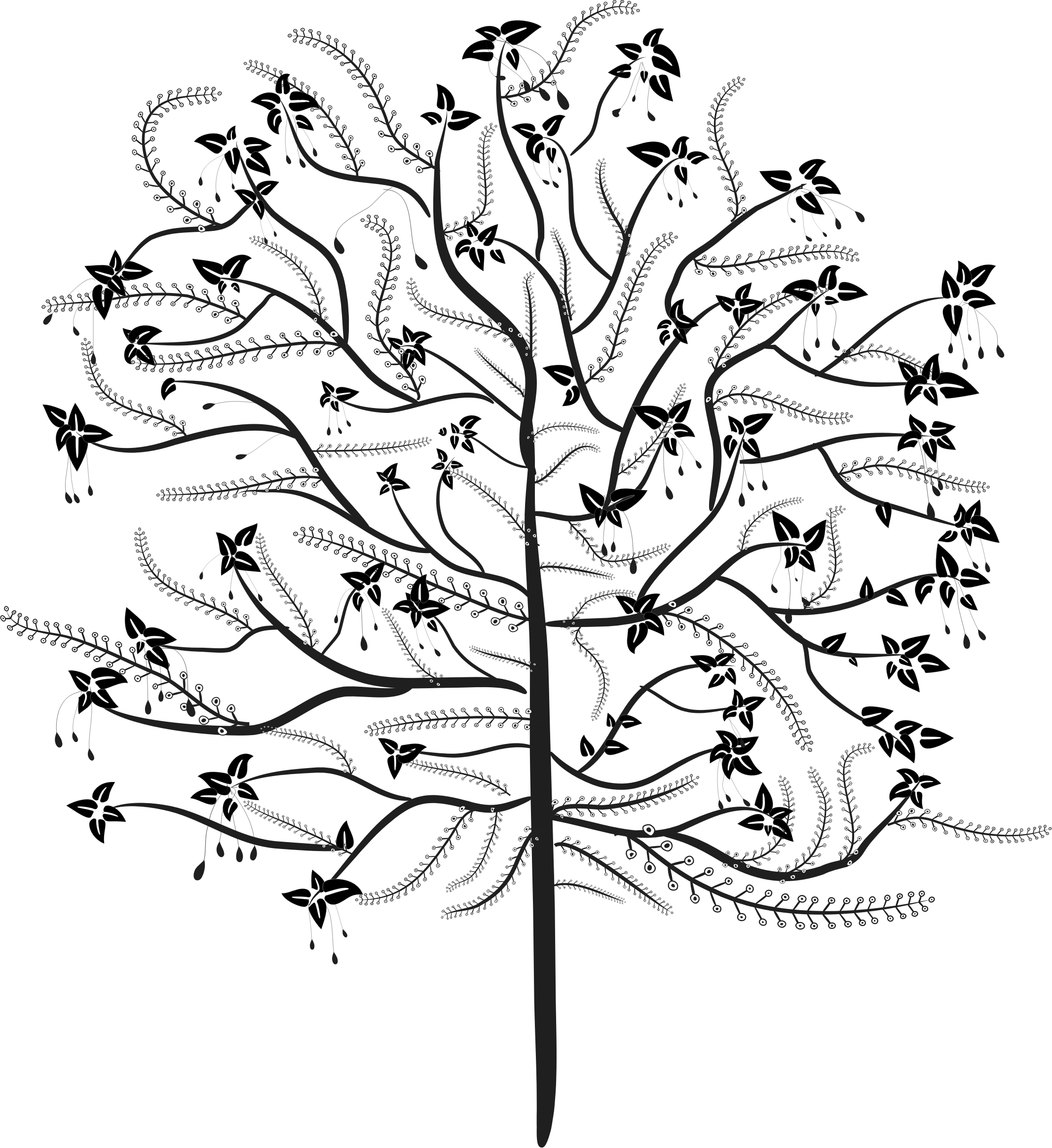 V drawing tree. Stylized at getdrawings com