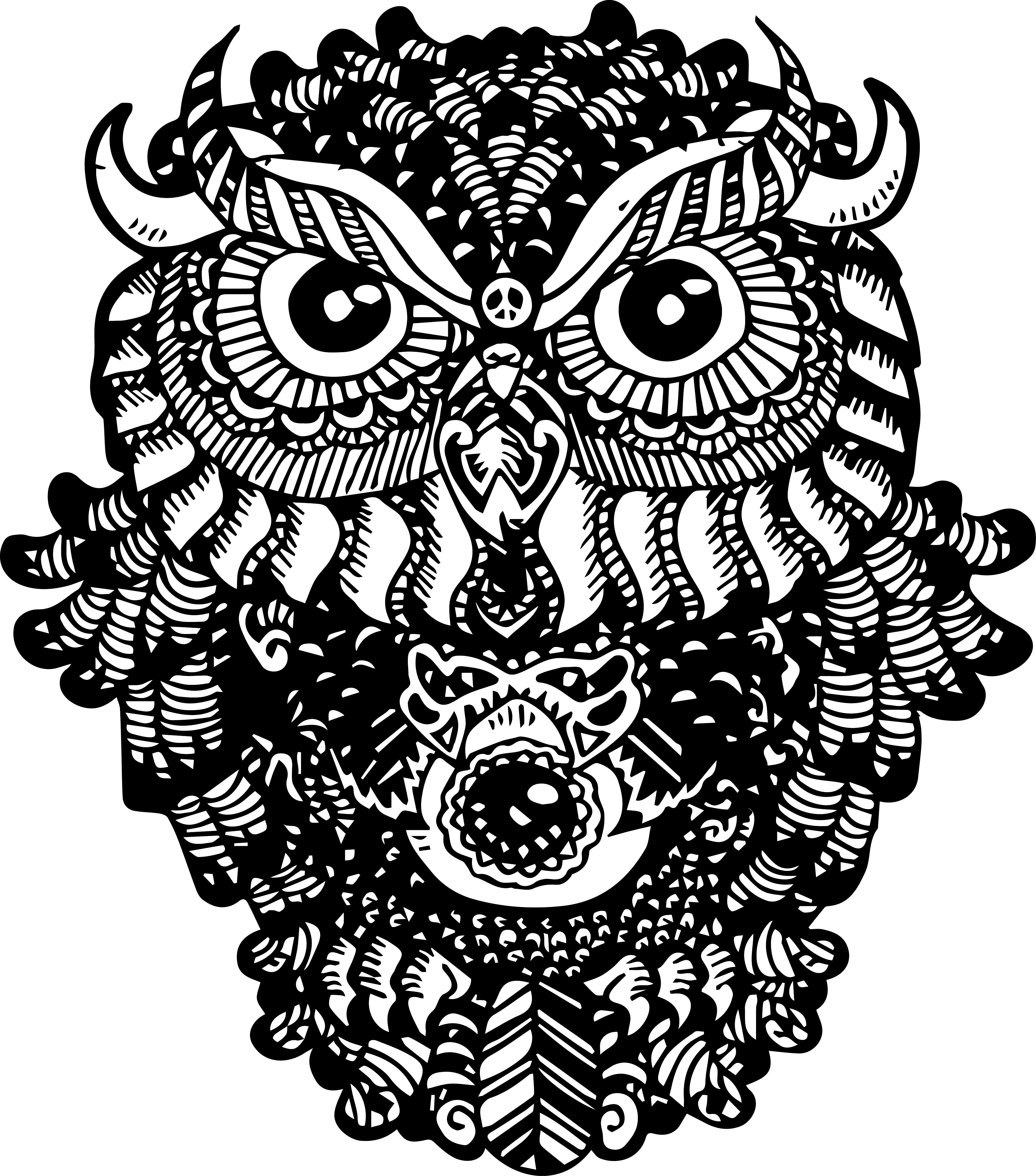 Bark drawing zentangle. Owl this is my